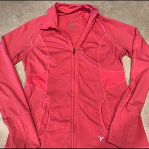 Old Navy Fitted Activewear Jacket Pink Size Large